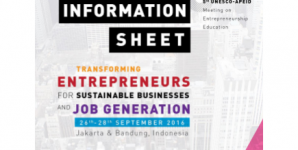 TRANSFORMING ENTREPRENEURS FOR SUSTAINABLE BUSINESS AND JOB GENERATIONS WITH UNESCO – APEID